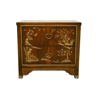 Dixie Furniture Asian Inspired Chinoiserie Nightstand For Sale