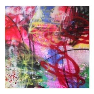"""Mirtha Moreno """"Unfolding Path"""" Contemporary Abstract Oil Painting For Sale"""