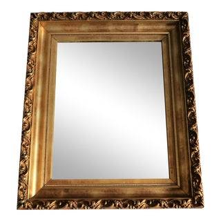 Antique Gold Leafed Frame With Mirror For Sale