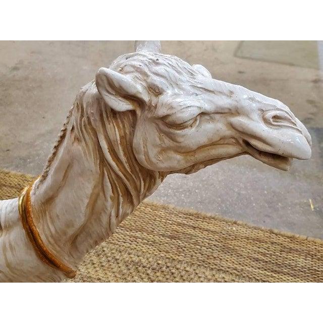 Ceramic Large Ceramic Camel Plant Stand For Sale - Image 7 of 12