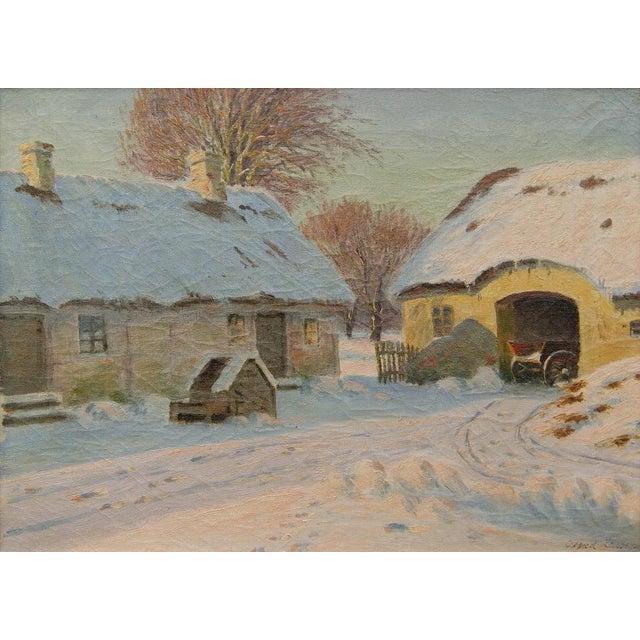 Winter Landscape by Alfred Larsen - Image 3 of 5