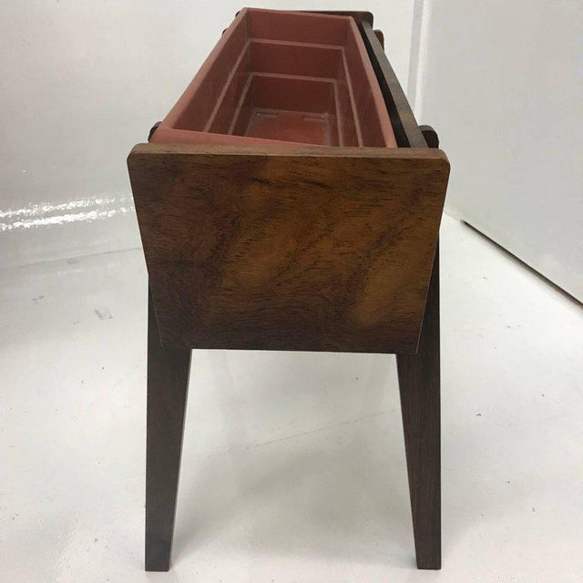 1960s Mid-Century Modern Brazilian Rosewood Planter For Sale - Image 5 of 6