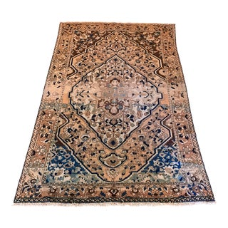 Antique Persian Heriz Hand Knotted Wool Area Rug - 7' X 10' For Sale