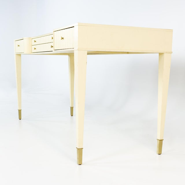 2000 - 2009 Barbara Barry for Baker Contemporary White Lacquer Desk For Sale - Image 5 of 13