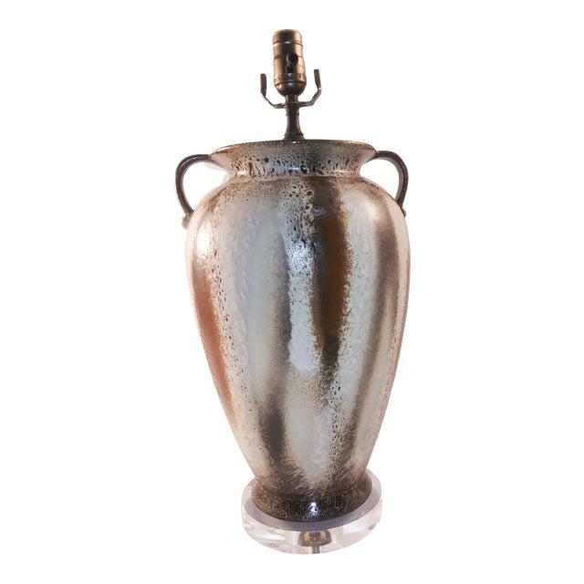 Electrified Mid-Century Lava West German Vase For Sale
