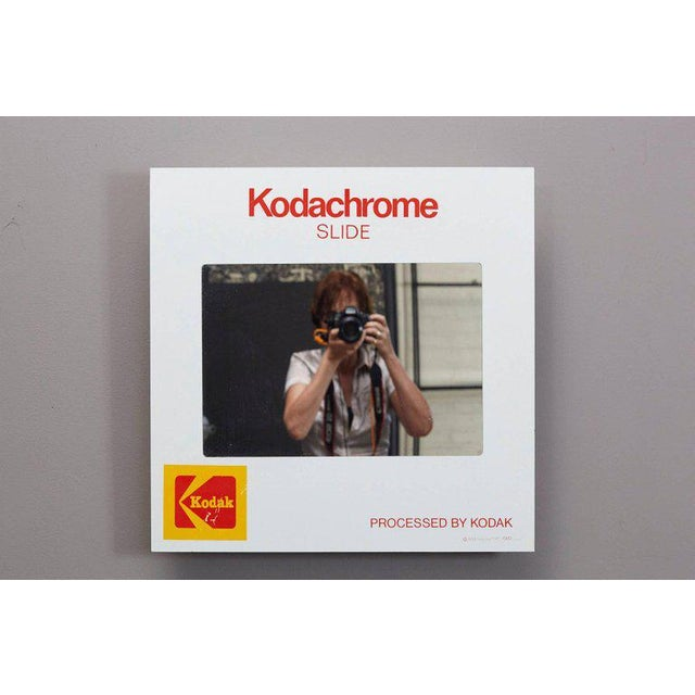 Mid-Century Modern Think Big! Kodachrome Slide Mirror With Integrated Cabinet, 1980's For Sale - Image 3 of 9