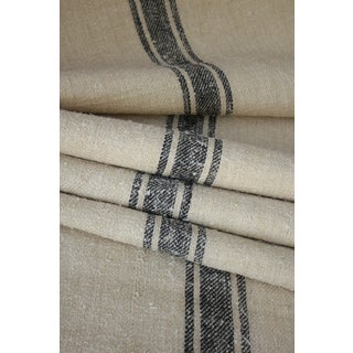 "French Stair Runner Heavy Hemp Grain Sack Fabric By The Yard - 23x36"" For Sale"
