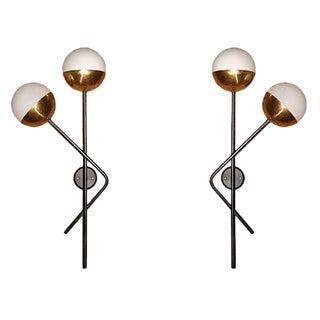 Murano Glass Stilnovo Sconces - A Pair For Sale