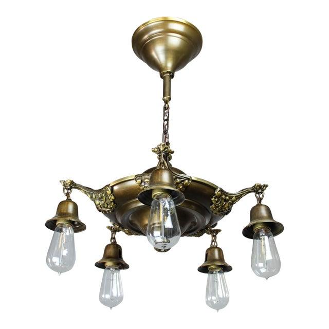 Colonial Revival Light Fixture (5-Light) For Sale