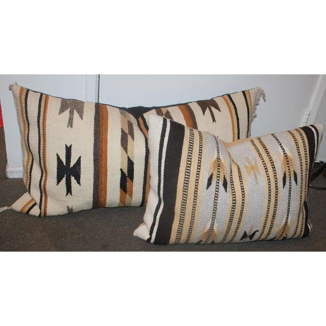 Chinle Navajo Indian Weaving Pillows - Collection of 4 For Sale In Los Angeles - Image 6 of 8