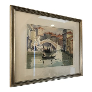 Late 20th Century Watercolor Painting For Sale