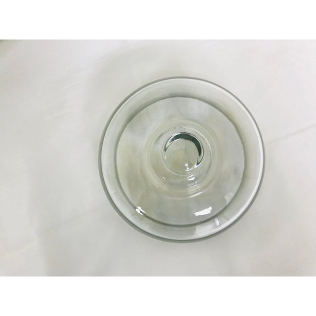 1960s Vintage Quartz & Glass Covered Cheese Serving Dish For Sale - Image 5 of 8