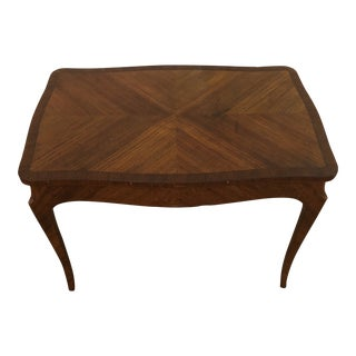 1950s French Inlaid Louis the XV Petite Side Table For Sale