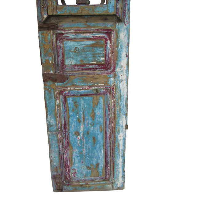 Architectural Mediterranean Door with Iron Grill - Image 3 of 9