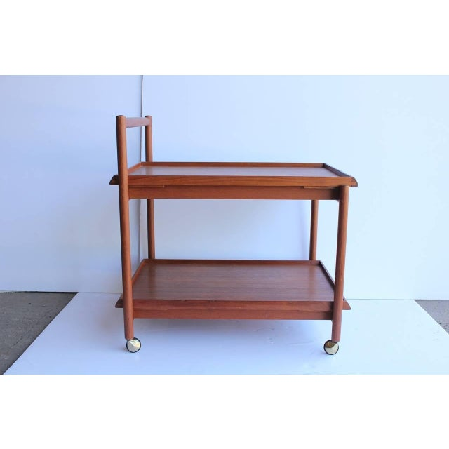 Mid-Century Modern Vintage Mid Century Danish Teak Bar Cart For Sale - Image 3 of 3