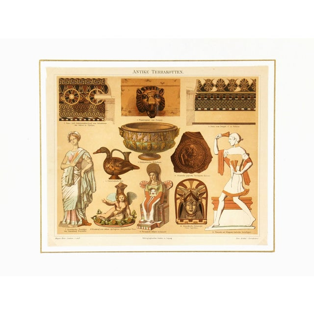 1880 Antique Decorative Ancient Terracotta Print - Image 3 of 3