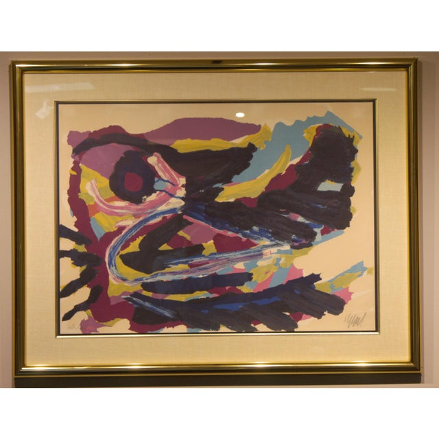 Abstract Lithograph by Karel Christiaan Appel Signed and Numbered For Sale - Image 3 of 7