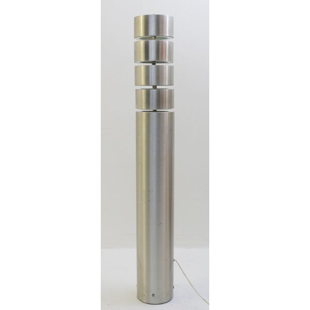 1970s Brushed Metal Floor Lamp by Stilux, Milano, 1972 For Sale - Image 5 of 7