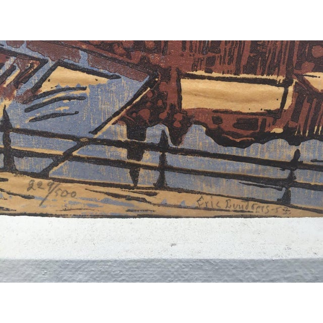 1950s Original Block Print by Eric Lundberg 1953 For Sale - Image 5 of 8