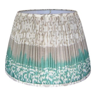 Gathered Lamp Shade Made with a Vintage Silk Sari