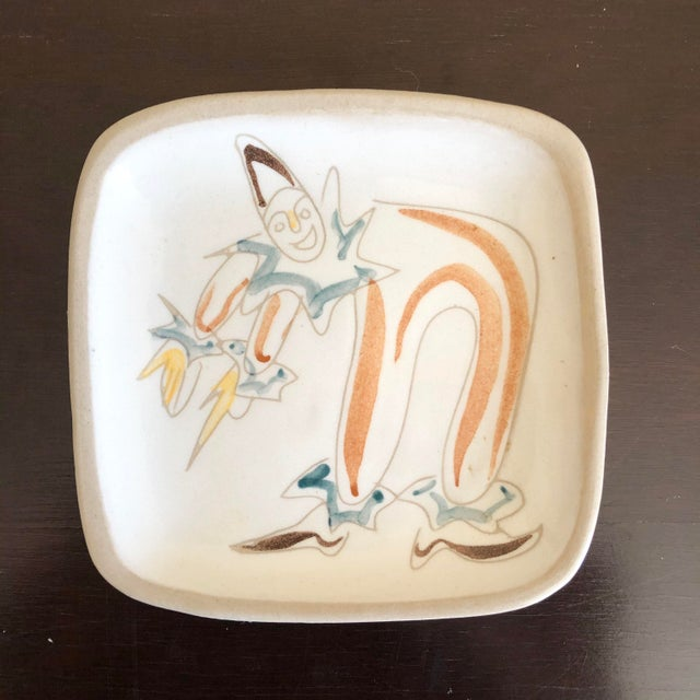 Glidden Pottery Mid Century Glidden Pottery Circus Plates - Set of 6 For Sale - Image 4 of 9