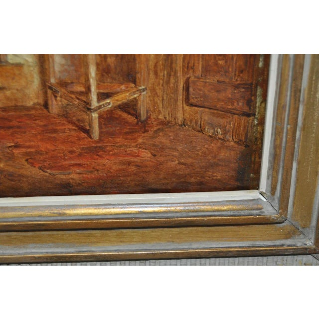 """Alfred Provis """"Young Domestic"""" Original Oil Painting - Image 5 of 10"""