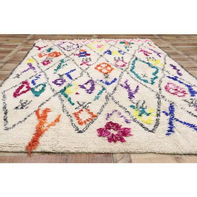 """Textile Contemporary Berber Moroccan Azilal Rug - 6'6"""" X 9' For Sale - Image 7 of 9"""