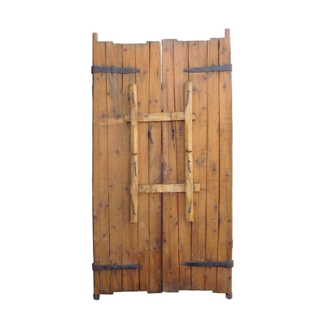 Vintage Iron Hardware Door Gate Wall Panel For Sale - Image 5 of 6