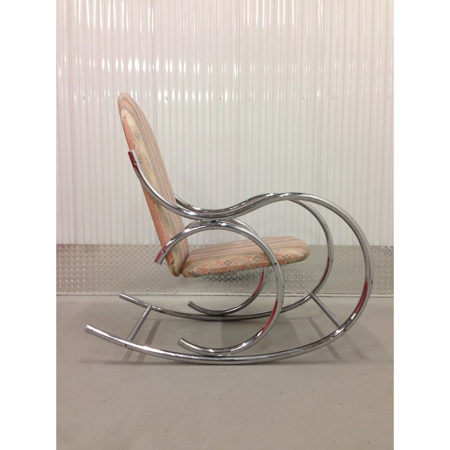 Mid-Century Modern Mid Century Modern Chrome Rocking Chair For Sale - Image 3 of 7