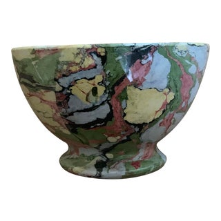 19th Century Dutch Marbleized Societe Ceramique Maestricht Ceramic Bowl For Sale