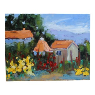 Original Oil Painting, Plein Air Sonoma Farm California For Sale