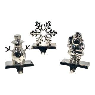 Set of 3 Stalking Holders Vintage Traditional Christmas For Sale