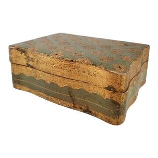 Vintage Italian Florentine Wood Trinket Box