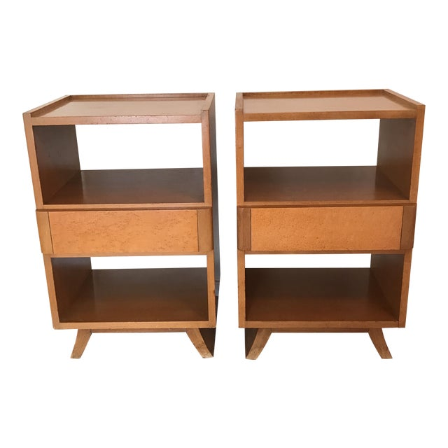 Eliel saarinen rway furniture nightstands a pair chairish for Eliel saarinen furniture