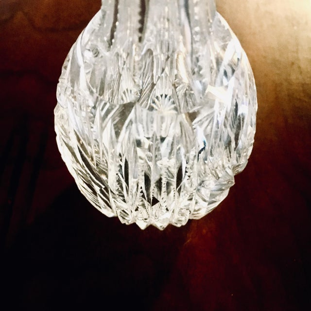 Small American Brilliant Cut Glass Decanter/Vase For Sale - Image 4 of 7