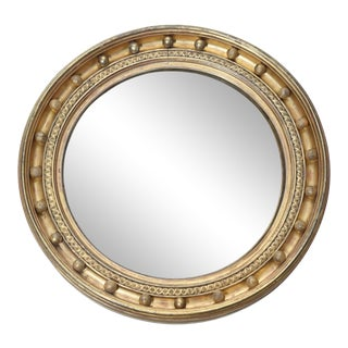 Gilt Round Convex Regency Mirror