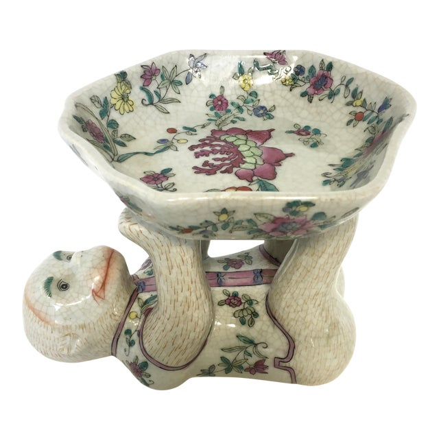 Chinoiserie Porcelain Monkey Dish Bowl For Sale