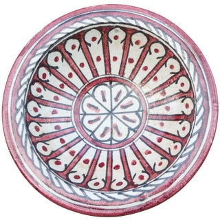Early 20th Century Moroccan Ceramic Plate For Sale