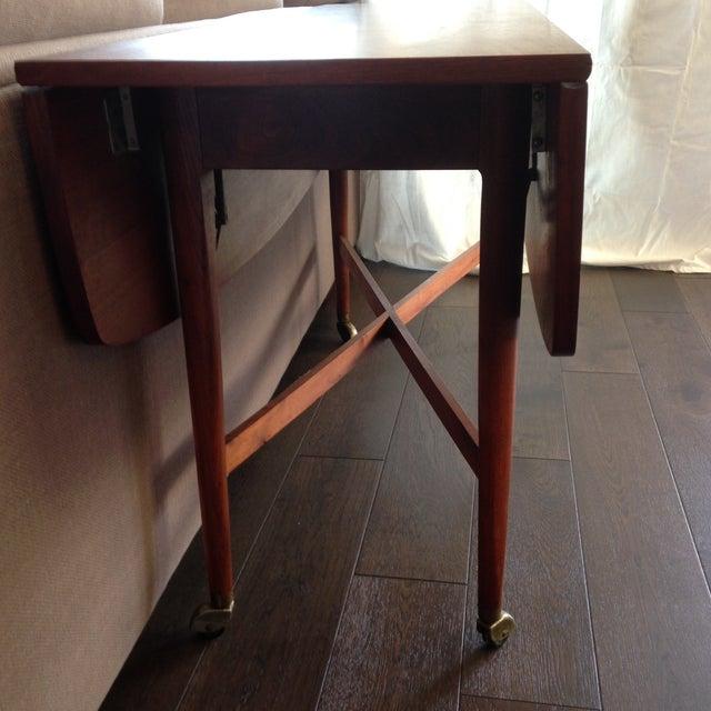 Danish Modern 1960 Drexel Declaration Kipp Steward McDougell Drop-Leaf Dining Table For Sale - Image 3 of 11