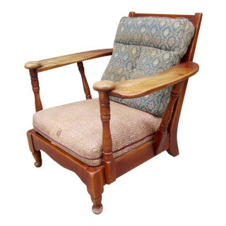 Mid Century Craftsman Maple Paddle Arm Lounge Chair For Sale