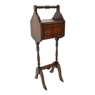 1900's Vintage Sewing Storage Side Table For Sale