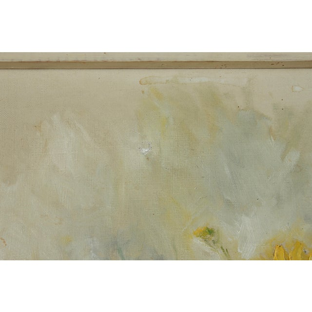 1960 Oil Painting 'Yellow Dasies' For Sale - Image 4 of 5