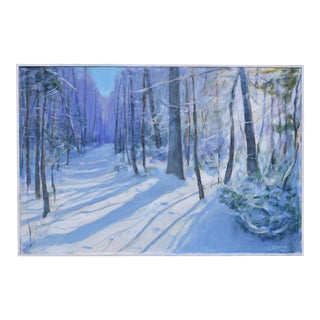 """Winter Morning"" Contemporary Acrylic Painting by Stephen Remick, Framed For Sale"