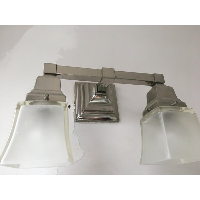 Contemporary Urban Archeology Town Double Shade Sconce For Sale - Image 3 of 6