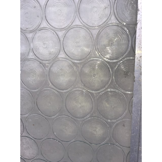 Late 19th Century Vintage Bottle Glass Windows-A Pair For Sale - Image 5 of 13