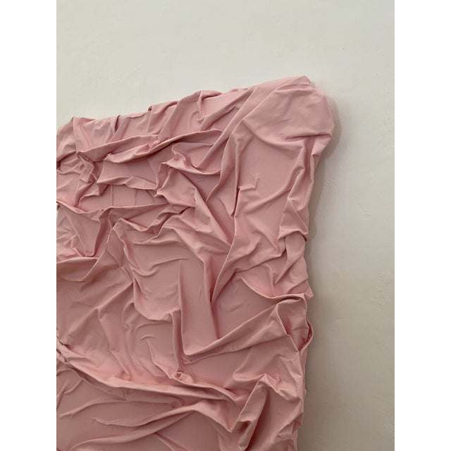 Textile Contemporary Minimalist Light Pink Abstract Textural Painting by Jordan Samuels For Sale - Image 7 of 11