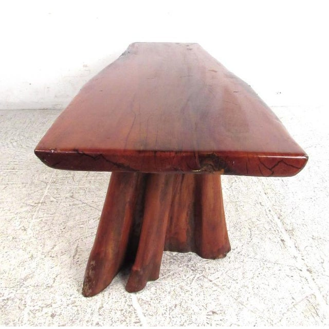 Live Edge Tree Slab Coffee Table or Bench For Sale In New York - Image 6 of 11