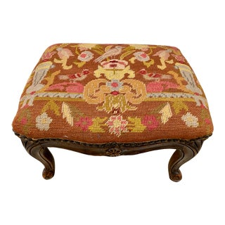 Early 20th Century Carved Footstool For Sale