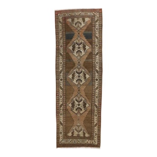 Antique Persian Malayer Runner with Modern Style in Neutral Colors