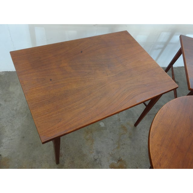 Danish Modern Wooden Side Tables - A Pair - Image 2 of 6